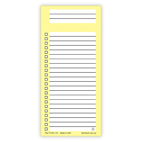 Day-Timer Self-Stick Hot Lists, 2.25 x 4.88, 3 Pack (10043)