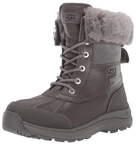 UGG Women's Adirondack Boot III Snow, Charcoal, 8 M US