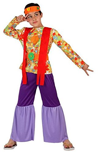 Angel Tomas S.A. - Disfraz de hippie para niño, talla 4, 10-12 años