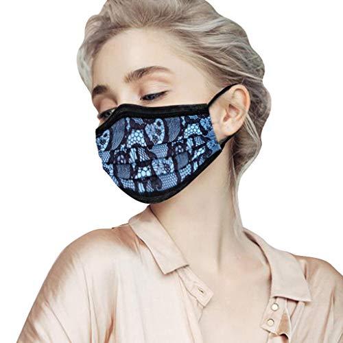 HEnri 10/50 Stück Einmal_Mundschutz, Staubs-chutz Atmungsaktive_Mundbedeckung, Erwachsene, Bandana Face_Mouth Cover Sommerschal