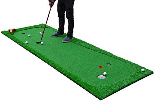 77tech Large Artificial Grass Golf Putting Green Mat Indoor/Outdoor Golf Training Aid Equipment Mat (3.3'X10')