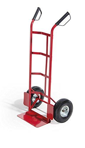 VERDELOOK Carrello portatutto, Portata 150 kg, 110x42x42 cm, Rosso