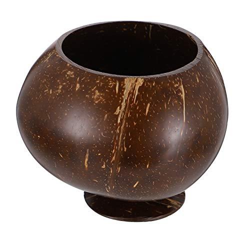 Hemoton Copas de coco con cáscara de coco natural de coco para beber, fiestas en la playa, jugo, taza de postre para suministros de fiesta hawaiana