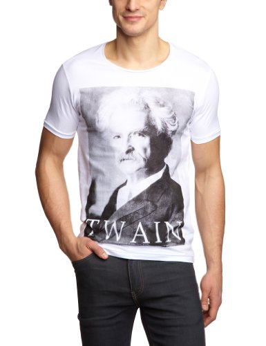 Selected Homme - T-Shirt - Manches courtes - Homme - Blanc (OPT.WHITE / Print 2) - FR: Large (Taille fabricant: Large)