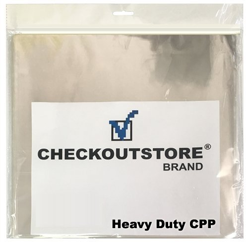 (100) CheckOutStore Clear Plastic CPP Sleeves for 12 Vinyl 33 RPM Records (Outer Sleeve) by CheckOutStore
