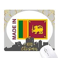 スリランカ国の愛で クリスマスイブのゴムマウスパッド