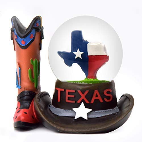Texas Hat and Boot Snow Globe