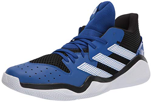adidas mens Harden Stepback Basketball Shoe, Core Black/Team Royal Blue/Ftwr White, 8.5 US