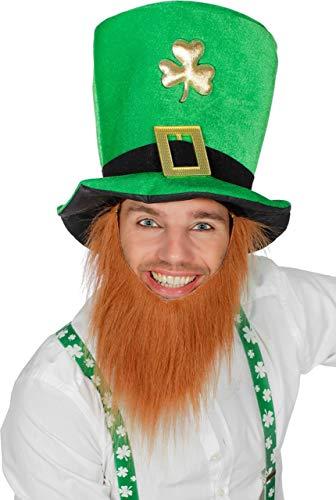 Wilbers St Patrick Set Hut Bart Zylinder Grün Braun Irish Irland Troll Zwerg zum Kostüm
