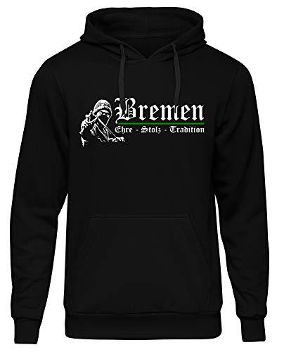 Bremen Ehre & Stolz Kapuzenpullover | Hansestadt | Weser | Fussball | Ultras | Hemd | Männer | Herrn | Fan (L)