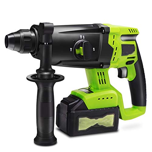6.0Ah Hammer Drill, Brushless Cordless Hammer Electric Pick Multifunctional Lithium Impact Drill Industrial Grade Electric Drill,1 battery