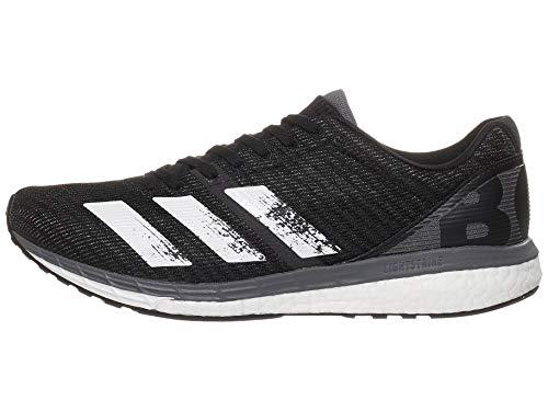 adidas Men's Adizero Boston 8 m Sneaker, Black/White/Grey, 11.5 M US