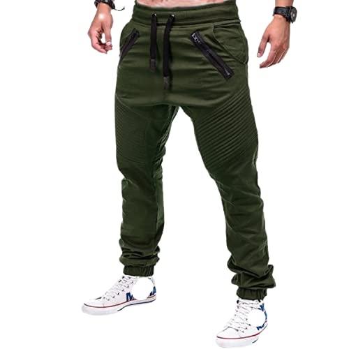 Yikesnt Pantalones Casuales para Hombre Pantalones de Jogging al Aire Libre de Todo fsforo de Moda de Primavera y otoo con Bolsillos y cordn 4XL