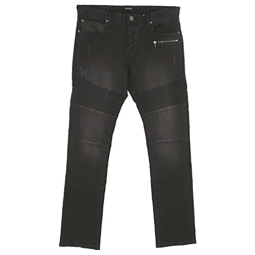 bruno banani, Biker, Herren Jeans Hose, Stretchdenim, Black Vintage, W 38 L 34 [19931]