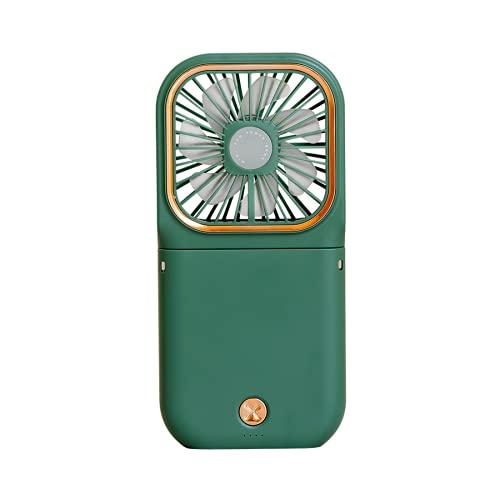 CHENXTT Ventilador Pliegue Multifunción Usb Soporte Para Teléfono Móvil Power Bank Mini Ventilador De Escritorio De Mano Con Cuello Colgante verde 6.5*3.2in