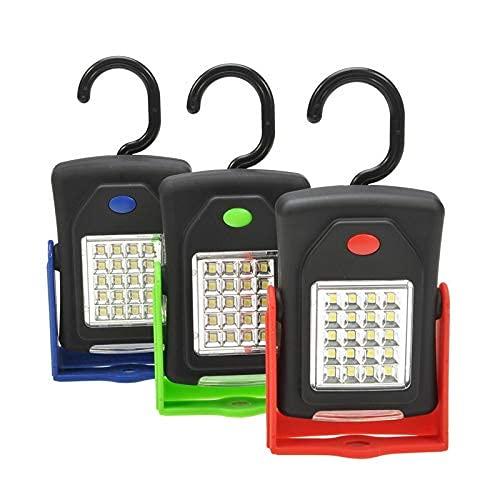 Linterna de luz LED portátil Linterna LED Linterna Luz de Trabajo 23 LED 2 Modos Lámpara de Bicicleta de Camping con Gancho Incorporado Linterna de Camping 214