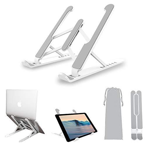 Soporte plegable para ordenador portátil, ordenador, portátil, 6 alturas, antideslizante, soporte para tableta