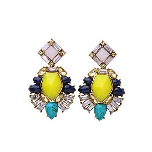 JJLESUN Schmuck-Statement-Gelb-Leuchter-Ohrring-Mode-Sommer-Ohrring