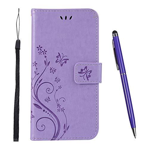 TOUCASA Hülle Kompatibel mit Huawei Nova 4,Brieftasche PU Leder Flip Case [Colourful Painting] Case Handytasche Klapphülle für Huawei Nova 4 (Lavendel)