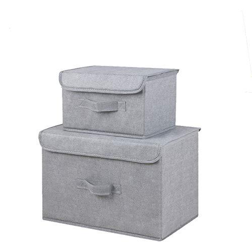 MSNLY Caja de Almacenamiento de Ropa Interior, Arte de Tela, Caja de Almacenamiento de plástico Lavable de Dos Piezas, Sujetador, Tela no Tejida, tamaño de Caja de Almacenamiento Completo