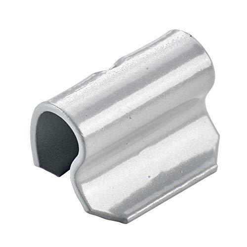 100x Ressorts de retenue marteau pour jantes en aluminium de type63 5g argent | Ressort de retenue poids équilibrage jante en aluminium poids marteau aluminium