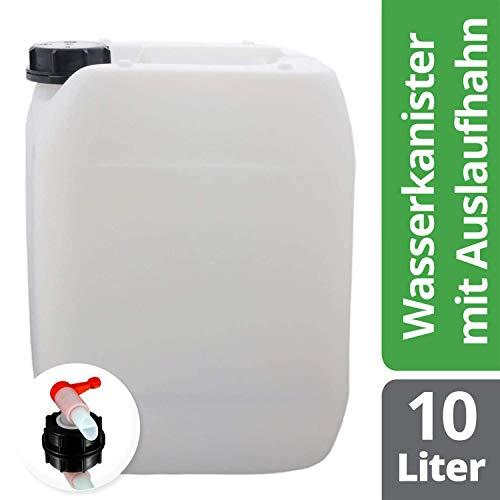 Preisvergleich Produktbild S-Pro Wasserkanister Trinkwasser mit Hahn,  Lebensmittelecht,  10l für Haus,  Garten und Camping Wasserbehälter,  leer