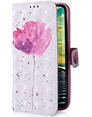 Uposao Compatible con Samsung Galaxy A70 Funda Carcasa Piel Cartera Libro Dibujo 3D Pintado Modelo PU Leather Wallet Flip Cover Case Compatible con Samsung Galaxy A70,Rosa