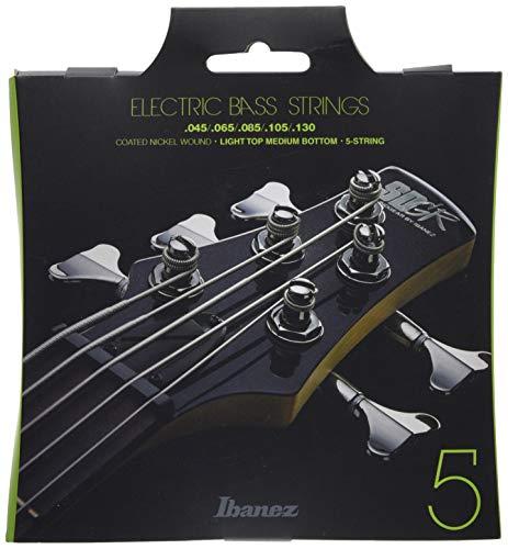 Ibanez IEBS5C Bass Saite Satz (5-String, Nickel Wound, 045-130, Long Scale)