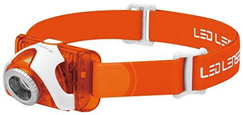 Ledlenser(レッドレンザー) LEDヘッドライト SEO3オレンジ 釣り/登山/トレラン用 【明るさ約100ルーメン】 【最長7年保証】 単4乾電池(AAA) x3本/防水等級:IPX6 [日本正規品] 6104