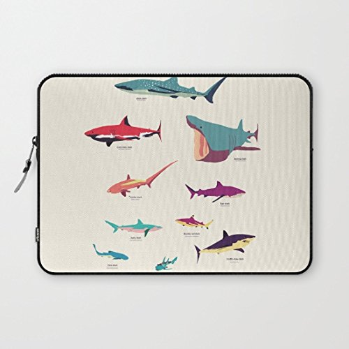 Buteri Eratio Sharks Neoprene Protective Laptop Sleeve 13 Inch MacBook Air Case MacBook Pro Sleeve and 13 Inch Laptop Bag Cover