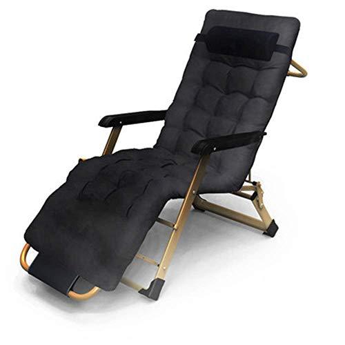 YLCJ Opvouwbare draagbare ligstoel voor lunch in de tuin voor buiten Patio (kleur: B) C