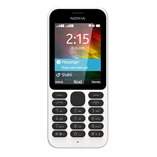 "Nokia 215 Dual SIM-Telefono cellulare (6,1 cm (2,4""""), 240 x 320 Pixeles, display LCD SD (TransFlash, 8 MB, 0,3 MP), colore: bianco"