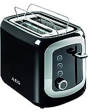 AEG AT 3300 broodrooster (940 watt, diep-brede sleuven, ontdooien, 7 standen) zwart