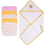 Viviland Baby Kapuzenhandtuch 6er Pack, Babytücher mit weichem Griff und starker Absorption, Babygeschenke für Säuglinge und Neugeborene, Fuchs