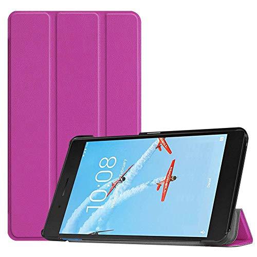 Case2go - Case for Lenovo Tab E7 - Slim Tri-Fold Book Case - Lightweight Smart Cover - Purple