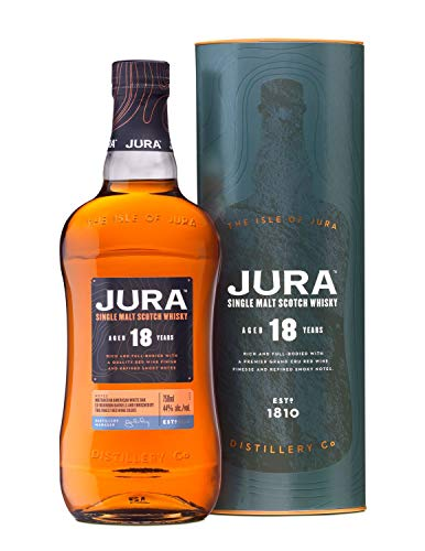 Jura 18 Years Old Single Malt Scotch Whisky mit Geschenkverpackung (1 x 0.7 l)