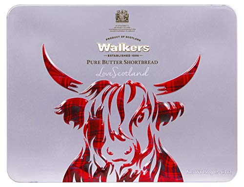 Walkers Shortbread Scottish Icon Cow Gift Tin, 5.3 Ounce (1947)