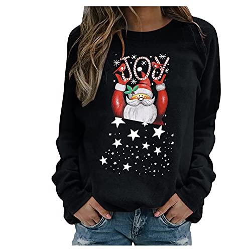 Weihnachten Sommer Shirts für Damen sexy bluze für Damen musselin Hemd Damen Damen Pullover weiß swaetshirt Damen Shirt Damen Langarm elegant Strickpulli Rippshirt Damen Langarm cashmir Pulli Damen