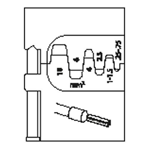 Gedore 8140-06 - Módulo de inserción para virolas de cable 0,25-10mm
