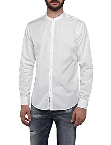 Replay Herren M4948A.000.83214 Freizeithemd, Weiß (White 1), Small (Herstellergröße: S)