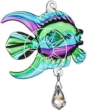 fait /à la main Fantasy Glass tropicalfish CRISTAL Attrape Soleil en bo/îte cadeau