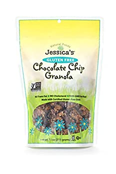 Jessica s Natural Foods Gluten-Free Chocolate Chip Granola 11 oz - All-Natural Granola Non GMO Breakfast Cereal and Snack Certified Gluten Free - Chocolate Chip