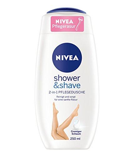 Nivea Shower & Shave 2-in-1 Pflegedusche zur vereinfachten Rasur unter der Dusche, 3er Pack (3 x 250 ml)