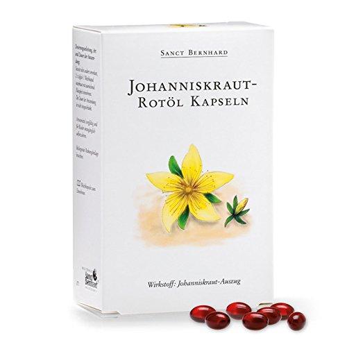 Sanct Bernhard Johanniskraut-Rotöl-Kapseln mit Johanniskrautöl 120 Kapseln