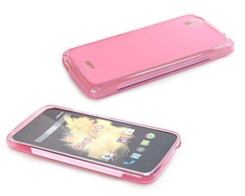 caseroxx TPU-Hülle für Wiko Birdy 4G, Handy Hülle Tasche (TPU-Hülle in pink)