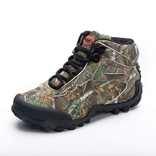 FOGUO Botas Tácticas De Camuflaje Zapatos Militares Impermeables De Combate Al Aire Libre para Hombres Zapatillas De Senderismo Informales para Hombre Botas De Caza Y Senderismo,Multicolour-42