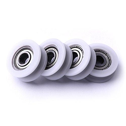 Atoplee 4pcs, runde Nut, Nylon, Riemenscheiben, Rolle für Schiebetor / Winkelstange / Schubladen