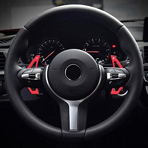 Für X1 F48 2015 2018 X2 F39 2018 X4 F26 2014 2017 X5 F15 2017 2018 X6 F16 2017 2018 Aluminiumlegierung Lenkradschaltung Lenkrad Wählhebel Schaltknauf Dsg Schaltwippen Verlängerung Red Auto