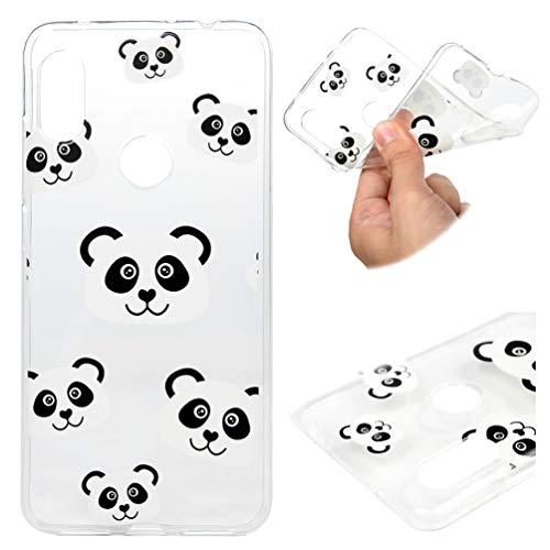 Funda para Xiaomi Redmi Note 6 Pro, pintura de teléfono móvil, carcasa de TPU suave, funda protectora anticaídas y absorción de golpes en Panda
