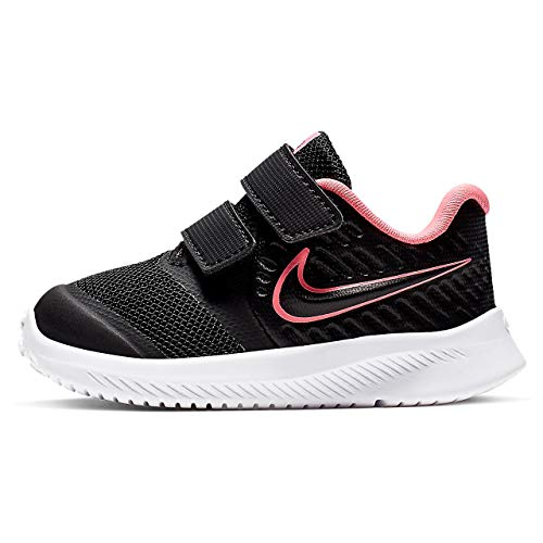 Nike Star Runner 2 (TDV), Sneaker Unisex-Bimbi 0-24, Nero Sunset Pulse/Black/White 002, Numeric_22 EU